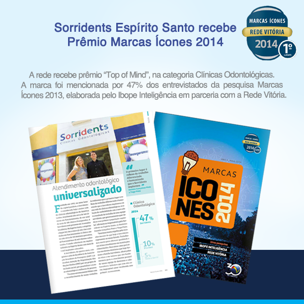 Sorridents recebe Prêmio Marcas Ícones 2014