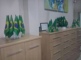 Recepção na torcida pelo Brasil!